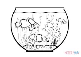 Coloring Page Fish Bowl Empty Eliolera