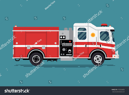 Cool Vector Emergency Vehicle Fire Engine Stock Vector (Royalty Free ...