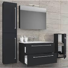 5 tlg waschplatz badmöbel badezimmer set waschtisch waschbecken schubladen keramik badinos spiegelschrank schwarz vcm