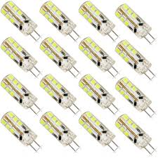 16 pack g4 bulb 24 smd 2835 bright led light bulbs dc 12v 6w