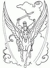Pages Hercules Baby And Cloud Free Printable Of Pegasus Coloring