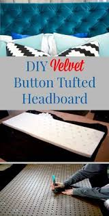 Velvet Headboard King Size by Tufted Headboard How To Make It Own Your Own Tutorial King