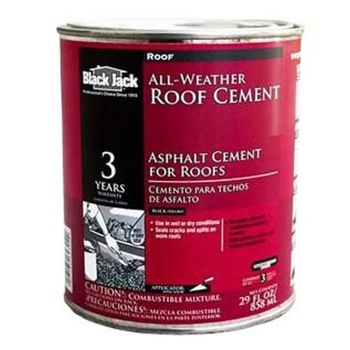 Black Jack All Weather Roof Cement - 1 Quart