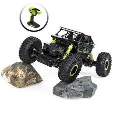 100 Rock Crawler Rc Trucks 24 GHz 118 OffRoad RC Car GreenBlack Best