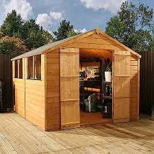 10 x 8 waltons tongue and groove apex wooden shed waltons sheds