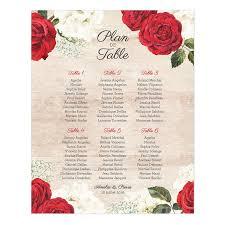 plan de table de mariage imprimé et bois