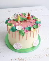 Fairy Birthday Pink Drip Cake