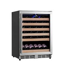 NewAir 18 Bottle 52 Can Dual Zone Wine And Beverage Cooler Front