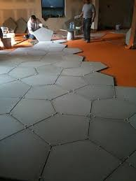 loving concrete floor tiles for basement if they can be