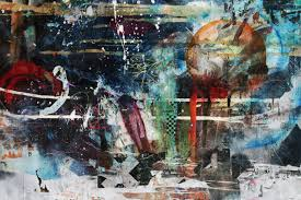 Painting Abstract Collage Artwork Graffiti Street Art Mural ART Urban Area Modern Watercolor Paint
