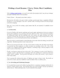100 How To Write A Good Resume Collection Of Solutions Format Writing Simple Examples