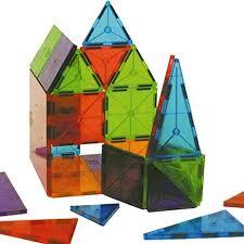translucent magna tiles magnetic building tiles clear
