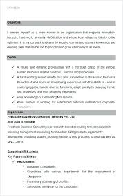Mis Resume Sample Greatest Hr Templates Doc Manager India
