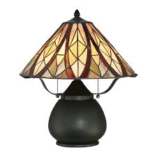 Quoizel Tiffany Lamp Shades by Shop Quoizel Victory 19 In Valiant Bronze Table Lamp With Tiffany