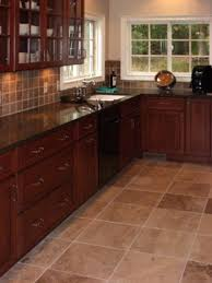 Dark Tile Kitchen Floor Luxury Ideas With Cabinets
