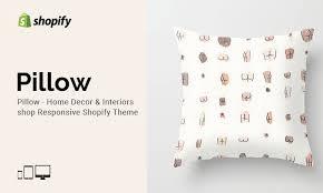 Home Interiors Shop Pillow Home Decor Shop Responsive Shopify Theme On Behance
