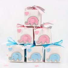 Details About 12X Elephant Boxes Baby Shower Gift Candy Box Kids Favor Birthday Party Decor