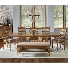 A America Bennett 8 Piece Trestle Dining Room Set W Upholstered Chairs Bench