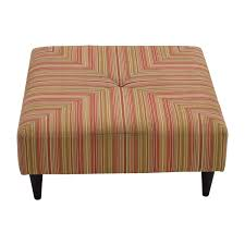 Macys Upholstered Headboards by 85 Off Macys Macy U0027s Red And Green Striped Upholstered Ottoman