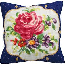 Vervaco Daffodils Pillow Needlepoint Kit 123Stitch