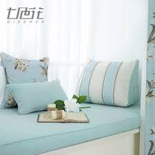 USD 1636 Fresh Mint Green American Bay Window Pad Cotton Linen