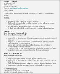 Sample Resume For Retail Consultant Inspirational Sales Job 71sample