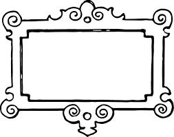 Frame clipart black and white 2