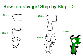 How To Draw Gir D By XxHayBugxX