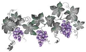 Grape Wall Decor For Kitchen by Large Grape Vine Designer Stencils Stencils U0026 Fonts
