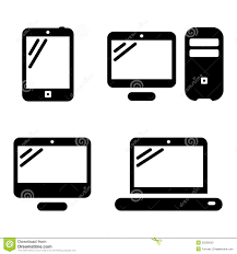 Desktop puter Icon Black And White