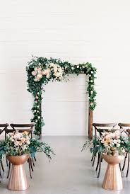 Cheap Wedding Ideas Tips For Getting Married Arch With Greenery And Flowers