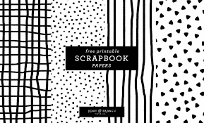 Free Printable Scrapbook Papers Black And White Prints