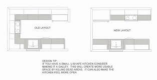L Shaped Kitchen Floor Plans Unique Brilliant 40 Layout Dimensions Inspiration