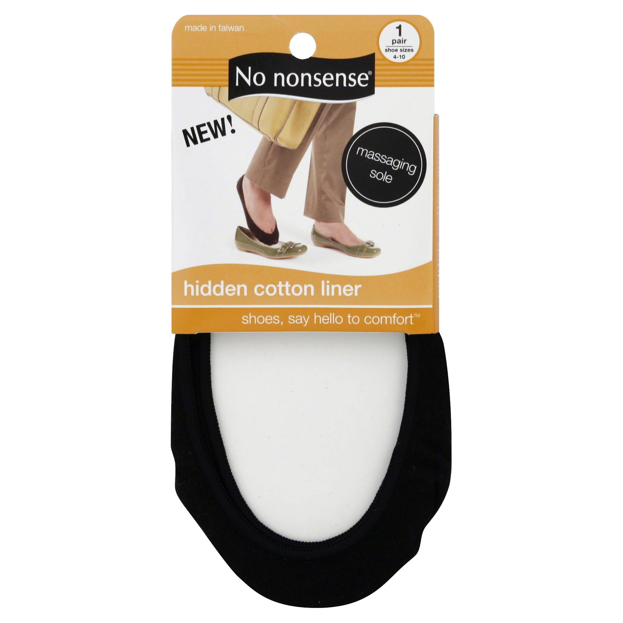 No Nonsense Liner Cotton Hidden - 1 Pair, Black
