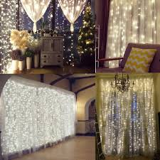 Icicle Lights In Bedroom by Amazon Com Naisidier Window Curtain String Lights Starry Fairy