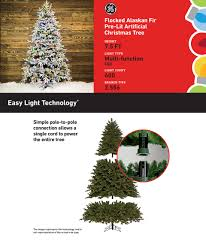 Pre Lit Flocked Artificial Christmas Trees by Shop Ge 7 5 Ft Pre Lit Alaskan Fir Flocked Artificial Christmas