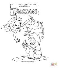 Tarzan Boy And Gorilla Terk From Walt Disney