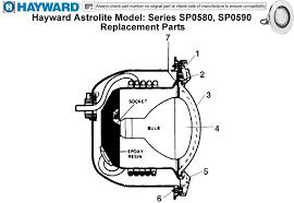 hayward hayward astrolite model series sp0580 sp0590 replacement