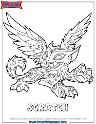Skylanders Swap Force Air Scratch Coloring Page