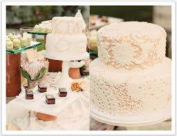 This Pastel Lace Wedding Cake Was The Focal Point Of Mexican Inspired Dessert Bar