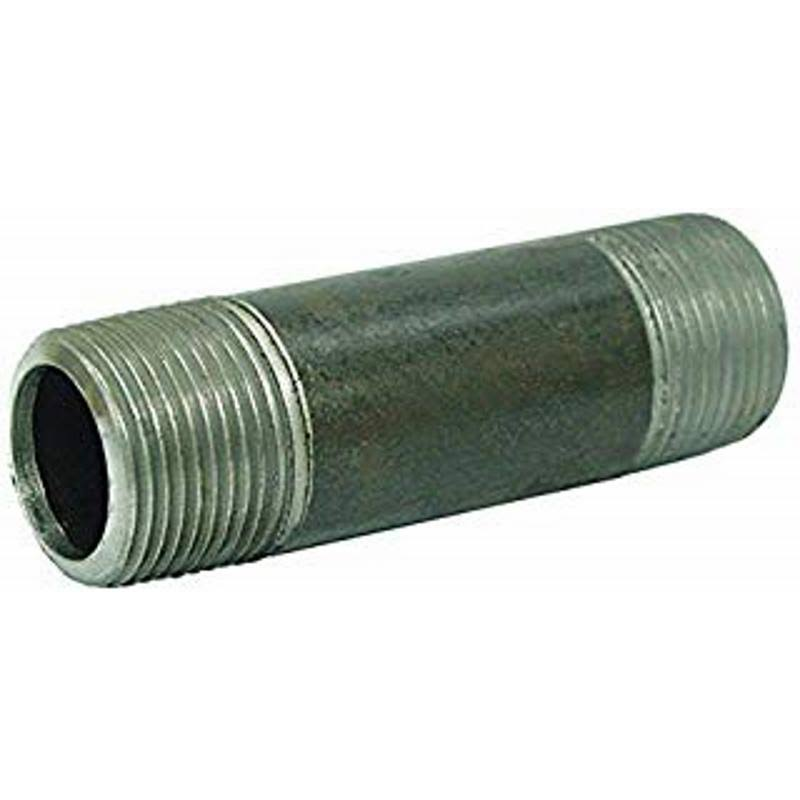 Ace 1/8 in. Dia. x 1/8 in. Dia. x Close in. L MPT to MPT Galvanized Steel Pipe Nipple
