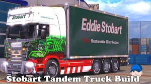 ETS2 Mods Eddie Stobart Tandem Scania Truck Build - YouTube