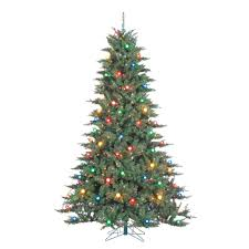Pre Lit Indoor Reno Pine Artificial Christmas Tree With 750 Multicolored