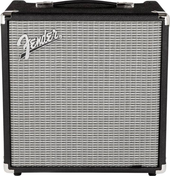 Fender Rumble Combo Bass Amplifier - Black and Silver, 120V