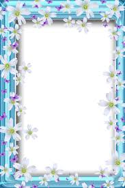 Flower Border For A4 Size Paper