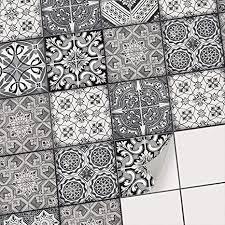 dekorative klebefolie für fliesen i aufkleber für fliesenspiegel küche i bad fliesen überkleben mosaikfliesen selbstklebend für wandfliesen i 15x15