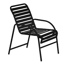 Tradewinds Milan Black Commercial Patio Game Chair 2 Pack