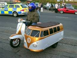 Motor Scooter And VW Sidecar