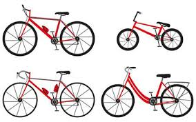 Four Kinds Of Bicycles Mountain Or Cross Country Bike Road City