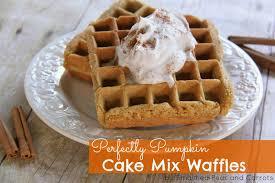 Pumpkin And Cake Mix Dessert by Recipe Perfectly Pumpkin Cake Mix Waffles Smashed Peas U0026 Carrots